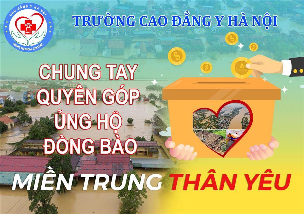 THÔNG BÁO phát động quyên góp ủng hộ đồng bào miên Trung bị ảnh hưởng lũ lụt - Trường Cao đẳng Y Hà Nội
