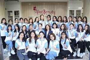 Sinh viên Khoa Chăm sóc sắc đẹp Trường Cao đẳng Y Hà Nội tham quan trải nghiệm thực tế tại Học viện đào tạo thẩm mỹ quốc tế Vietbeauty Academy
